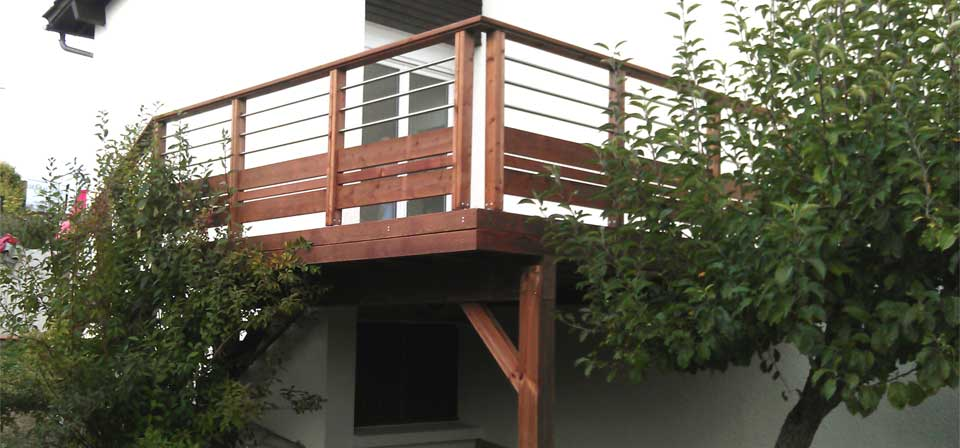 Terrasse bois à ChâtelGuyon