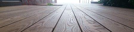 vue terrasse en bois