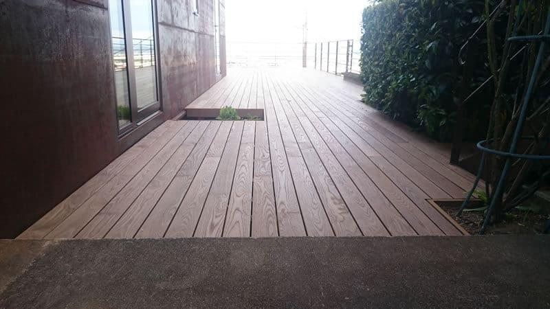 Terrasse bois autoportante Chamalières juin 2014
