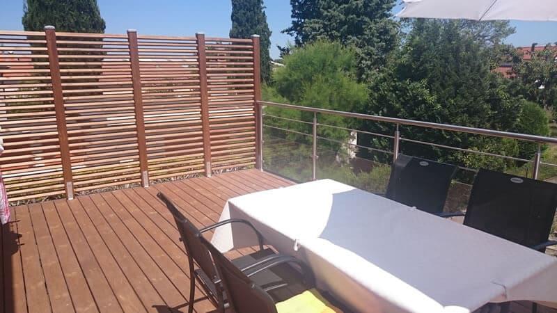 Terrasse en bois sur poteaux Lempdes