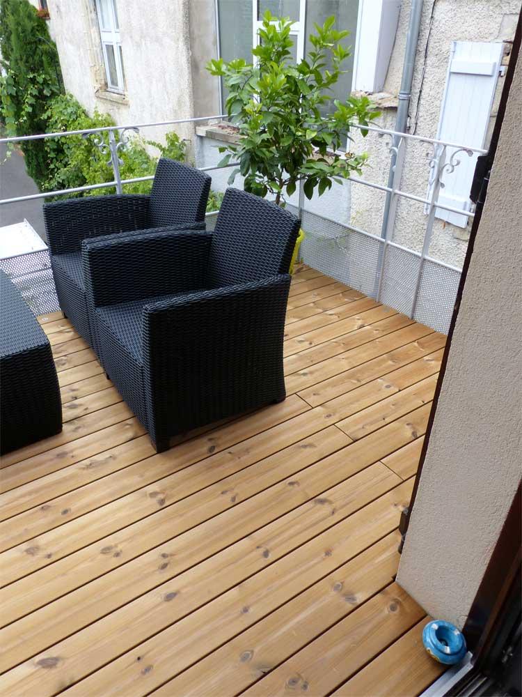 Terrasse balcon en thermopin