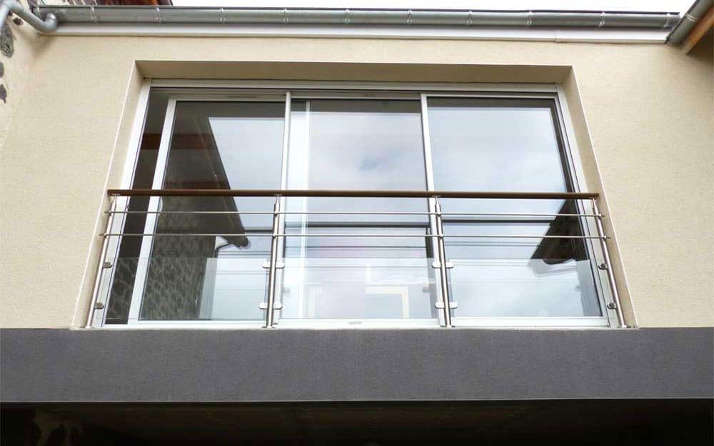 Balcon inox et verre en Auvergne